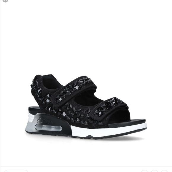 Ash Lulla Stones Sneaker Sandal Black